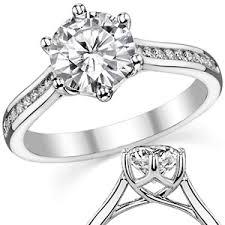 6 prong engagement ring forever one moissanite 6 prong trellis engagement ring