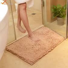 Wash Bathroom Rugs 50x80cm 19 X31 Microfiber Chenille Bathmats Bathroom Machine Wash