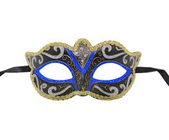 black venetian mask classic black venetian mask with blue gold and silver