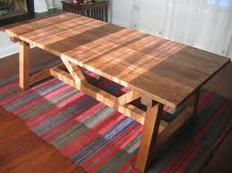 hand made trestle farmhouse table reclaimed wood farmhouse