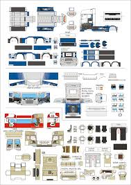 lots of simple truck paper models free templates download http