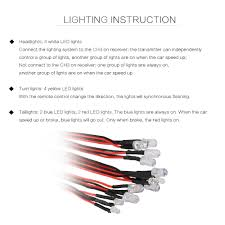 Turn Lights On 12 Led Lighting System Kit Brake Smart Simulation Flash Lights For