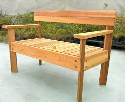 Wooden Bench Plans With Storage by Custom Made Western Red Cedar Patio Storage Benchgarden Wooden