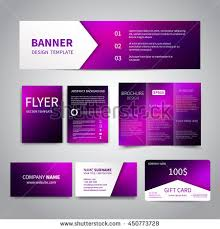 Purple Business Cards Banner Flyers Brochure Business Cards Gift Stock Vector 428843770