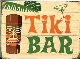 tiki bar vintage sign coastal home decor nautical decor
