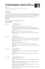 Sample Resume Photo by Social Media Intern Resume Samples Visualcv Resume Samples Database