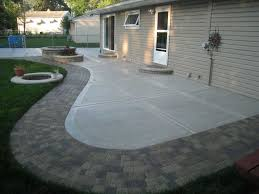 Paver Patio Edging Options How To Build Concrete Patio In 8 Easy Steps Diy Slab Against House