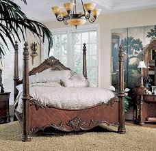 Pulaski Edwardian Nightstand Edwardian Poster Beds Hardwood With A Beautiful Rich Medium Brown