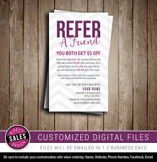 refer a friend referral card direct sales business card