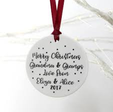 merry christmas grandparents ceramic spot decoration by parsy card
