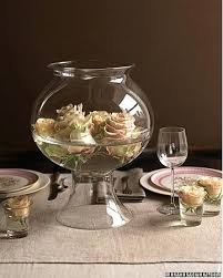 fish bowl centerpieces glass centrepiece bowl aproductions me