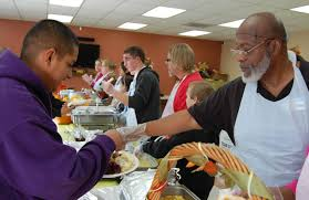 residents give thanks by giving back