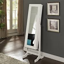 Free Standing Full Length Mirror Jewelry Armoire Belham Living White Full Length Cheval Mirror Jewelry Armoire With