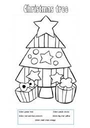 english teaching worksheets christmas tree
