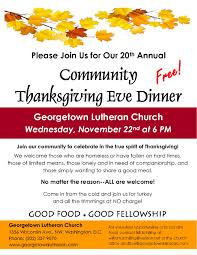 thanksgiving dinner georgetown lutheran church