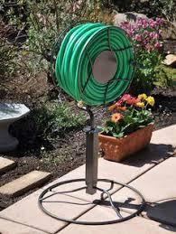 post mounted hose reel in the garden pinterest hose reel