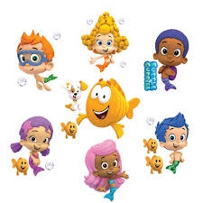 set of 7 bubble guppies removable wall decal stickers 10