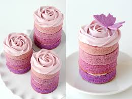 purple ombre mini cakes u2013 glorious treats