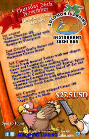 2nd thanksgiving thanksgiving 2015 dinner options in los cabos los cabos guide blog
