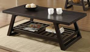 3pc coffee table set in rich brown by coaster
