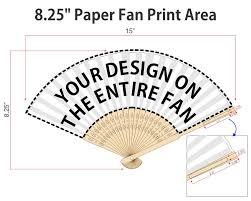 custom hand fans no minimum full color promotional paper fans personalized hand fans