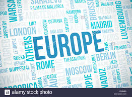 Europe Map And Capitals by Europe Cloud Concept Print National Capitals Of Countries And