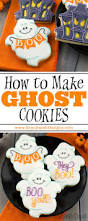 how to make chubby ghost cookies tutorials halloween foods and