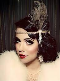 1920s hair accessories apricot 1920s rhinestone feather headband retro stage chic