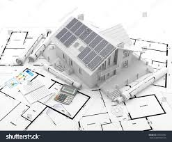 energy efficient construction 3d rendering stock illustration