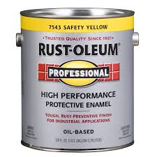 yellow exterior paint shop rust oleum professional safety yellow gloss gloss oil based