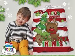santa sacks personalised kids custom name christmas santa sacks