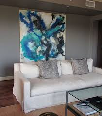 studio paintings contemporary dining room houston by