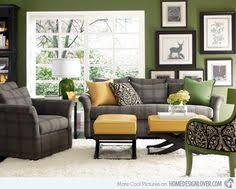 Grey Yellow Green Living Room   hmmm love the grey green black for living room color palette