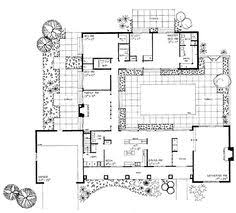 Hacienda Floor Plans With Courtyard Plan 69401am Long U0026 Low California Ranch Ranch Photo Galleries