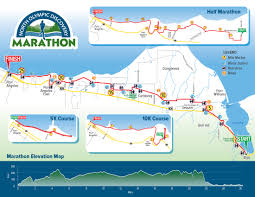 Marathon Route Map by Course U2013 North Olympic Discovery Marathon