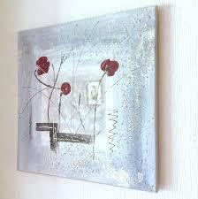 Tableau Abstrait Rouge Et Gris by Tableau Abstrait Gris Et Trio Fleuri Rouge Peintures Par