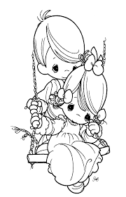 precious moments sad colouring pages