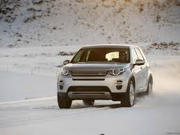 silver range rover 2015 2015 land rover discovery sport indus silver in snow front