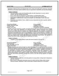 Samples Of Resume Writing by Federal Social Worker Resume Writer Sample The Resume Clinic