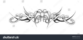 sketch tattoo art tribal design stock illustration 64846426