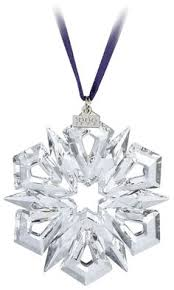 swarovski 2000 annual snowflake ornament z
