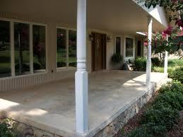 Side Porch Designs Cozy Concrete Front Porch Design For Your Home Exterior Using