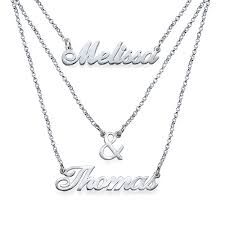 Name Necklace Silver Sterling Silver Layered Name Necklace Spirit Filled Designs