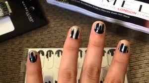 maybelline color show fashion print nail stickers review youtube