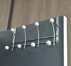 over the door 8 metal hooks coat rack chrome white