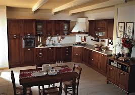 amazing dark brown country style kitchen cabinets with corner