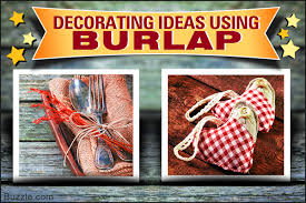 enhance durability with these home decorating ideas using burlap