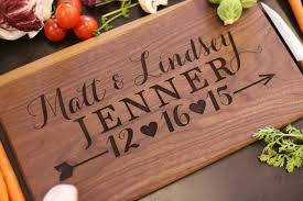 personalize wedding gifts engraved wedding gifts personalized cutting board newlyweds
