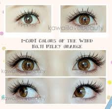 Circle Lenses Colors Of The Wind Milky Orange Color Contacts 11