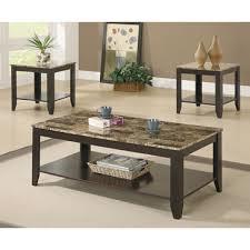 monarch specialties coffee table monarch specialties i 7984p cappuccino marble look top 3 piece